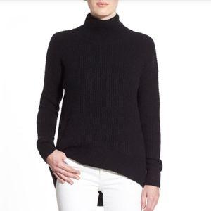 Madewell Black Wafflestitch Turtleneck Sweater